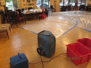 Water Restoration Equipment Drying Floor