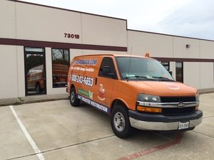 Commercial Damage Restoration Van